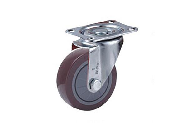 轻型单轴承高强度聚氨酯脚轮