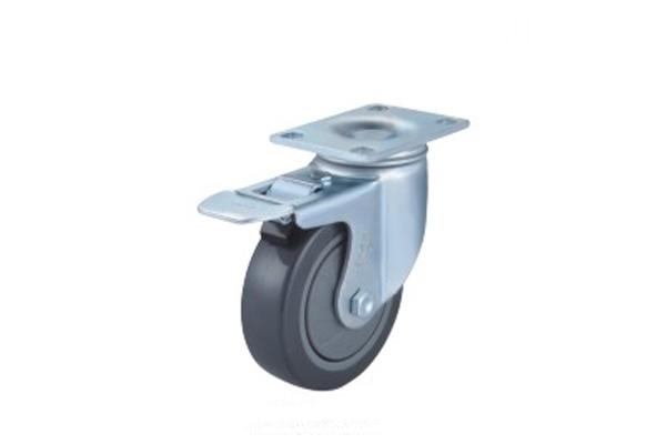 中型单轴承高强度聚氨酯脚轮