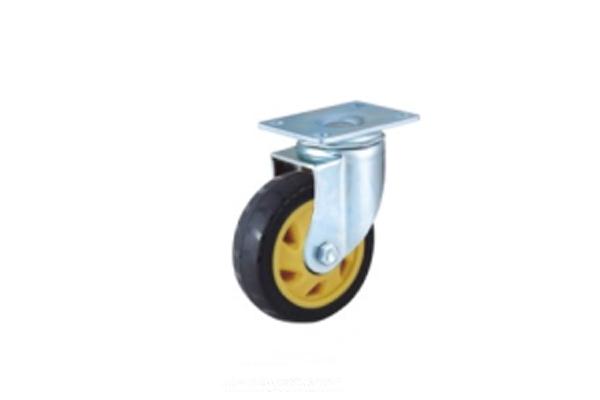 中型双轴承高强度聚氨酯脚轮