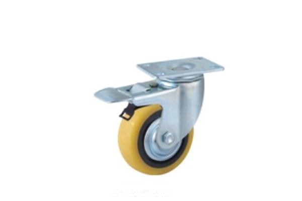 中型双轴承顶级聚氨酯脚轮