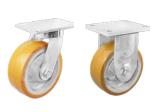 重庆工业脚轮-pu包银漆生铁脚轮