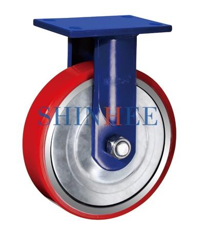 平面铁芯聚氨酯固定轮