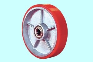 铁芯聚氨脂单轮(红色)