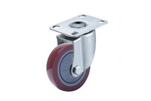 中轻型单轴承高强度聚氨酯脚轮