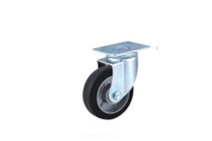 中型铝芯橡胶脚轮