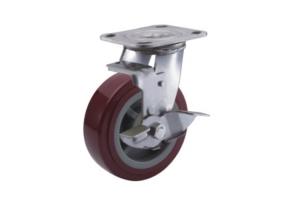 重型不锈钢高强度聚氨酯脚轮