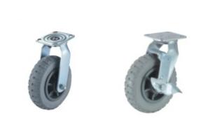 重型实心高弹性胶脚轮