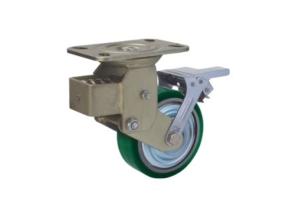减震型美式铁芯PU脚轮