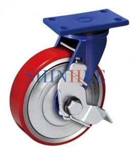 平底铁芯聚氨酯边刹轮